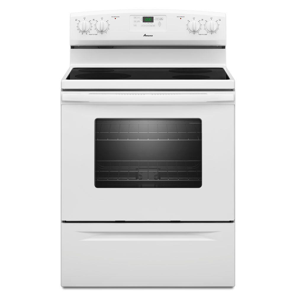 white electric range. Electric Range With Self-Cleaning Oven In White White Electric Range D