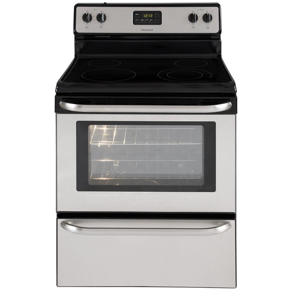 Frigidaire 4 8 Cu Ft Electric Range In Stainless Steel