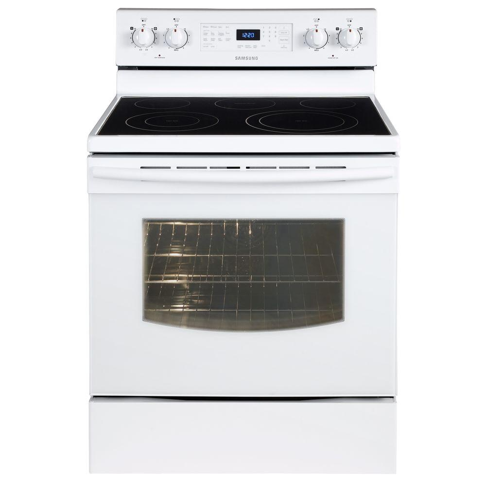 Electric Range With Fan Convection Oven In White Ne59j3420sw