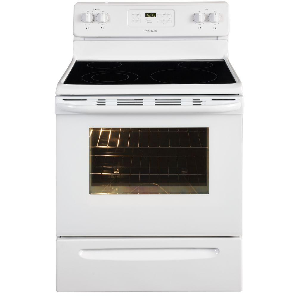 Electric Range With Self Cleaning Oven In White